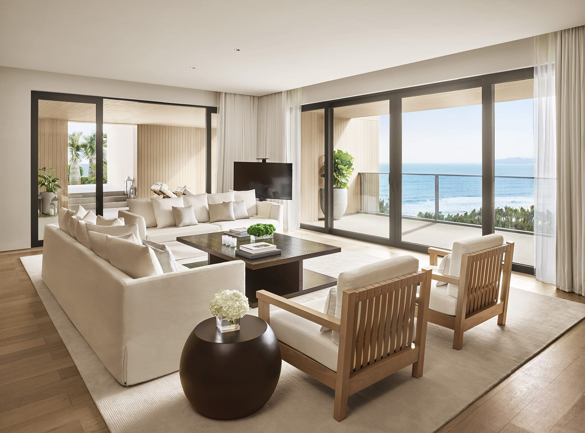 Penthouse Suite Living Room at The Sanya EDITION